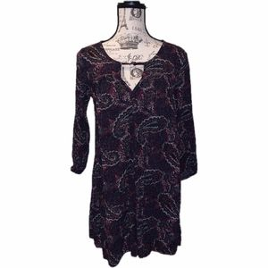 American Eagle Purple Paisley Dress Size Small